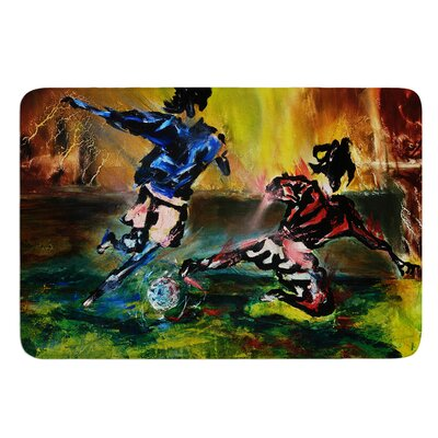 Slidetackle by Josh Serafin Bath Mat Size: 24 W x 36 L