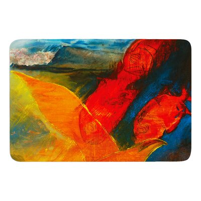 Whats Beneath My Feet by Josh Serafin Bath Mat Size: 17 W x 24 L