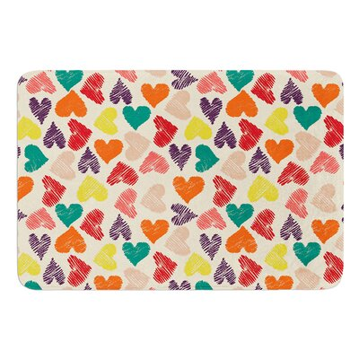 Little Hearts by Louise Machado Bath Mat