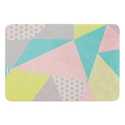 Geometric Pastel by Louise Machado Bath Mat