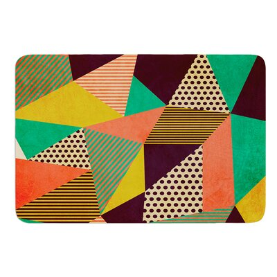 Geometric Love II by Louise Machado Bath Mat