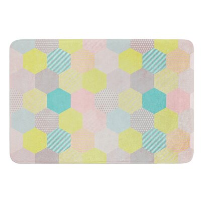 Pastel Hexagon by Louise Machado Bath Mat