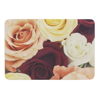 Vintage Roses by Libertad Leal Bath Mat