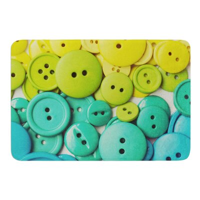 Cute as a Button by Libertad Leal Bath Mat