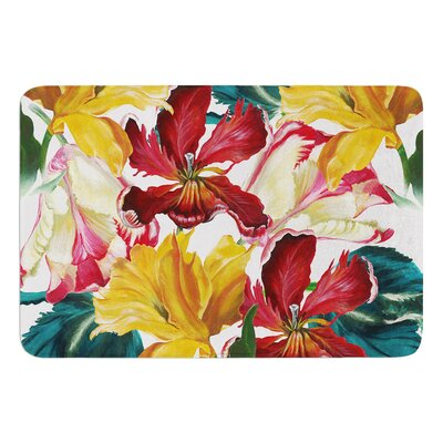 Flower Power by Lydia Martin Bath Mat