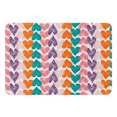 Hearts by Louise Machado Bath Mat