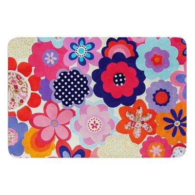 Patchwork Flowers by Louise Machado Bath Mat