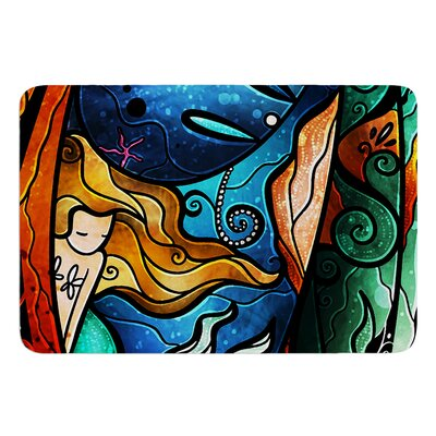 Fathoms Below Mermaid by Mandie Manzano Bath Mat