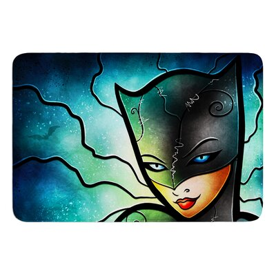 Miss Kitty by Mandie Manzano Bath Mat