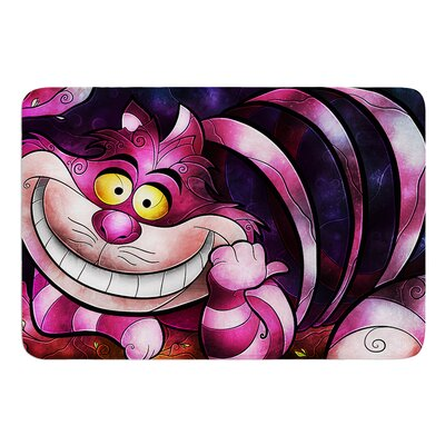 Chesire Cat by Mandie Manzano Bath Mat