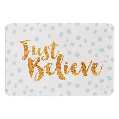 Just Believe by Nick Atkinson Bath Mat