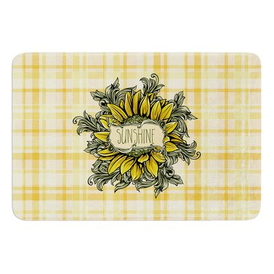 Sunflower Sunshine by Nick Atkinson Bath Mat