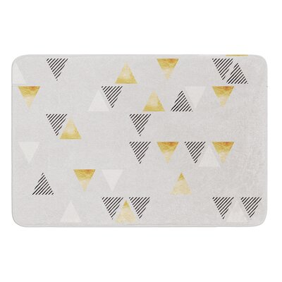 Triangle Love by Nick Atkinson Bath Mat