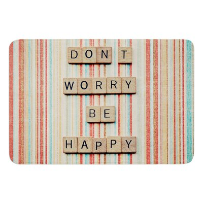 Dont Worry Be Happy by Nastasia Cook Bath Rug
