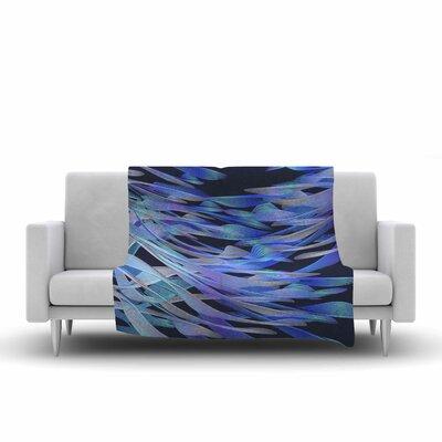 Angelo Cerantola Tropical Electric Illustration Fleece Blanket Color: Blue/Purple EUAH4253 39742261