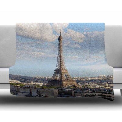Eiffel Tower by Philip Brown Fleece Blanket