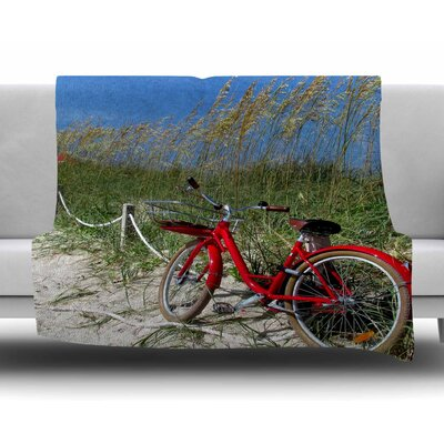 A Day at the Beach by Philip Brown Fleece Blanket