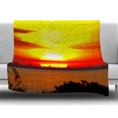 Sunrise on Sanibel by Philip Brown Fleece Blanket