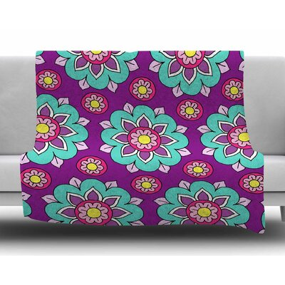 Bright Blossoms by Sarah Oelerich Fleece Blanket
