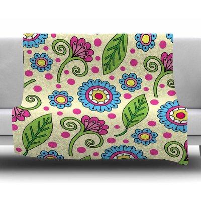 Polka Dot Garden by Sarah Oelerich Fleece Blanket
