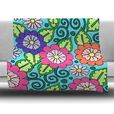 Summer Floral by Sarah Oelerich Fleece Blanket
