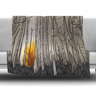 Smokey Forest Fire by Sam Posnick Fleece Blanket