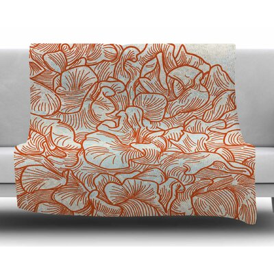 Lettuce Coral by Sam Posnick Fleece Blanket