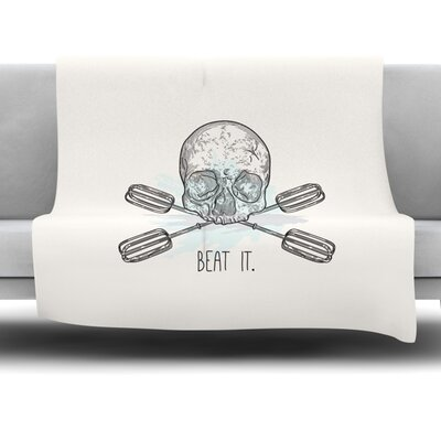 Beat It by Sam Posnick Fleece Blanket