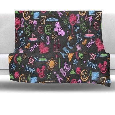 Kindergarden Crazy by Snap Studio Fleece Blanket