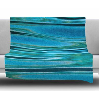 Blue Water by Susan Sanders Fleece Blanket