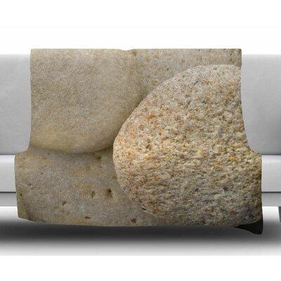 River Stones by Susan Sanders Fleece Blanket