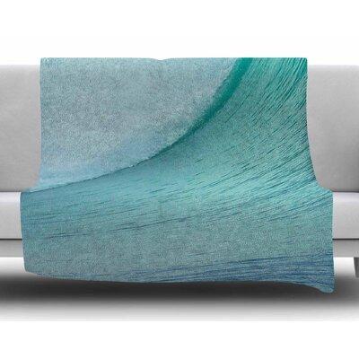 Ocean Wave by Susan Sanders Fleece Blanket
