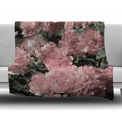 Blush Flowers by Susan Sanders Fleece Blanket