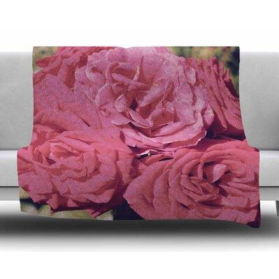 Blush Blooming Roses by Susan Sanders Fleece Blanket
