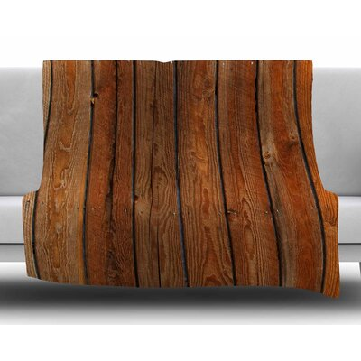Rustic Wood Wall by Susan Sanders Fleece Blanket