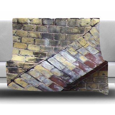 Painted Grunge Brick Wall by Susan Sanders Fleece Blanket