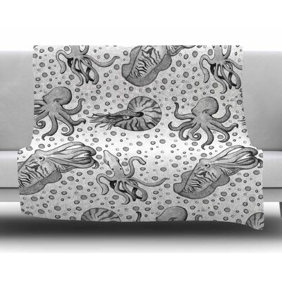 Cephalopods by Stephanie Vaeth Fleece Blanket