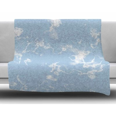 Marble Clouds by Vasare Nar Fleece Blanket