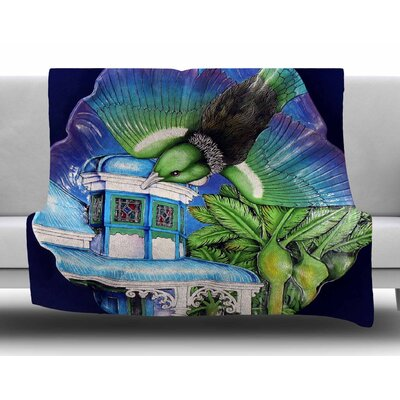 New Zealand by Vinny Thompson Fleece Blanket