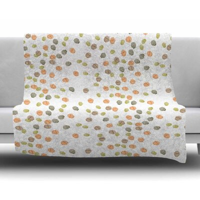 Autumn Spots by Yenty Jap Fleece Blanket
