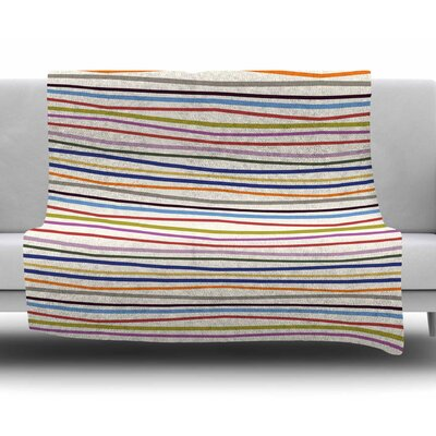 Stripe Fun by Yenty Jap Fleece Blanket