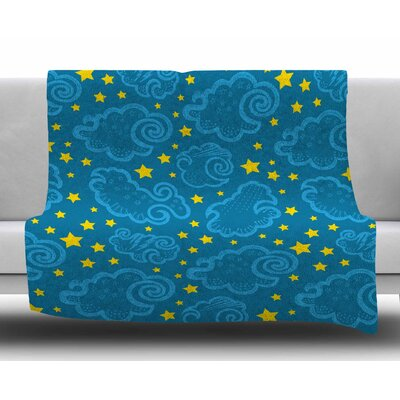 Starry and Cloudy Night by Yenty Jap Fleece Blanket