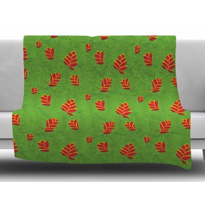 Heliconia by Yenty Jap Fleece Blanket