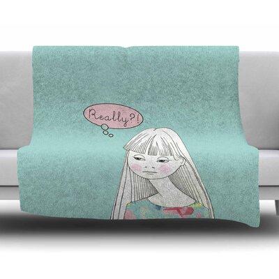 Really Retro Girl by Zara Martina Mansen Fleece Blanket