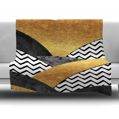 Chevron Hills by Zara Martina Mansen Fleece Blanket
