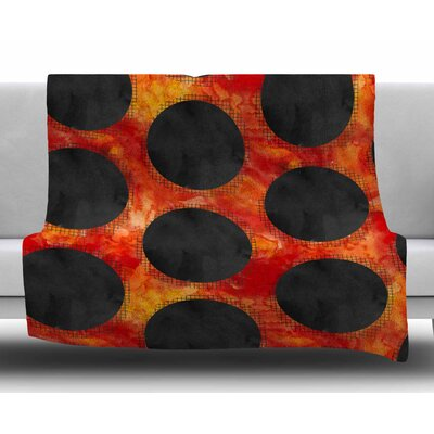 Volcanic Holes by Zara Martina Mansen Fleece Blanket