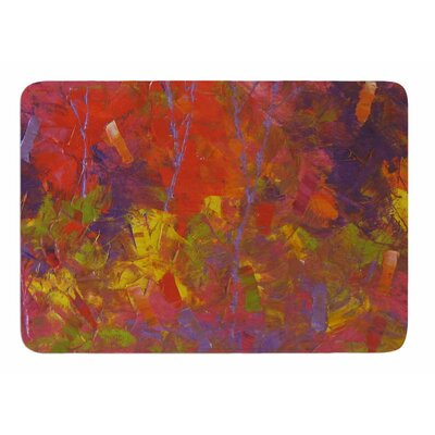 Forest Kaleidescope by Jeff Ferst Memory Foam Bath Mat Size: 24 L x 17 W