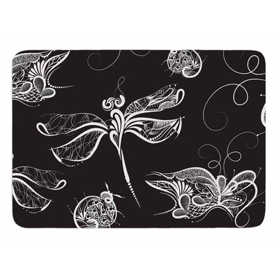 Insects by Maria Bazarova Memory Foam Bath Mat Size: 24 L x 17 W