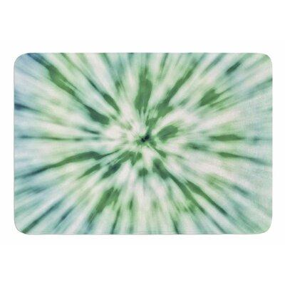 Green Spring Tie Dye by Nika Martinez Memory Foam Bath Mat Size: 24 L x 17 W