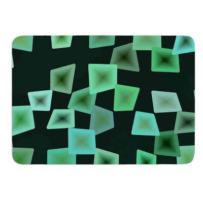 Seaglass on The Shore by No Memory Foam Bath Mat Size: 36 L x 24 W